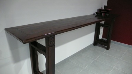 Table chine table chinoise console chine console for Console meuble chinois